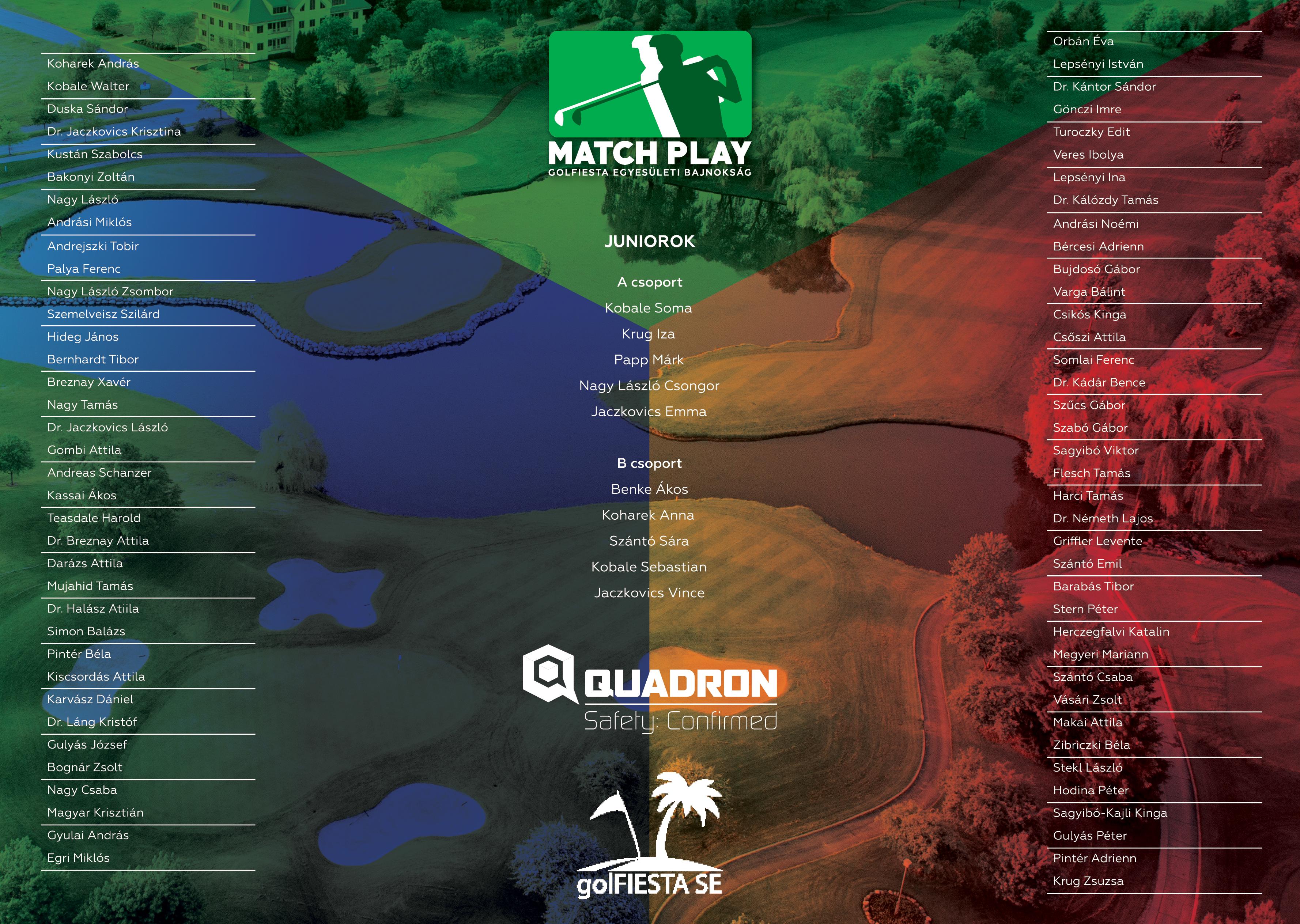 GOLFIESTA-QUADRON Match Play Bajnokság 2016