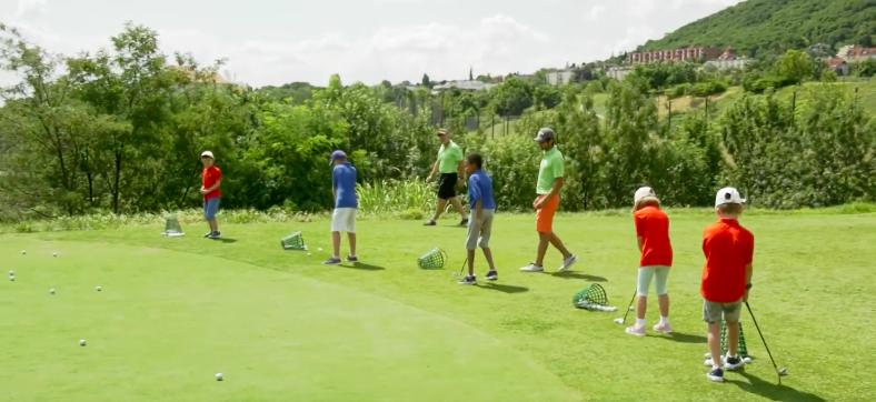 Golfiesta nyári junior táborába látogatott az M4 Sport kamerája…
